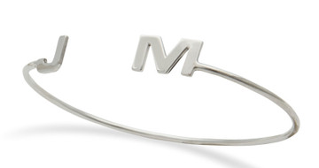 Cuff with 2 Initials: Sterling Silver