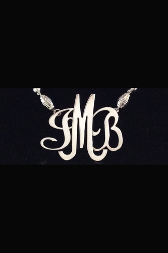 So-U Monogram in Silver and Vermeil Gold w/Magnetic Clasp