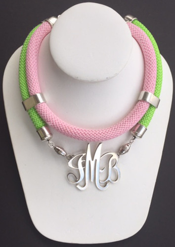 Double Cord: Pink & Green