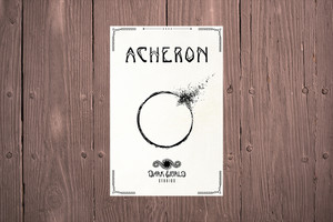 The cover of the Acheron gamebook
