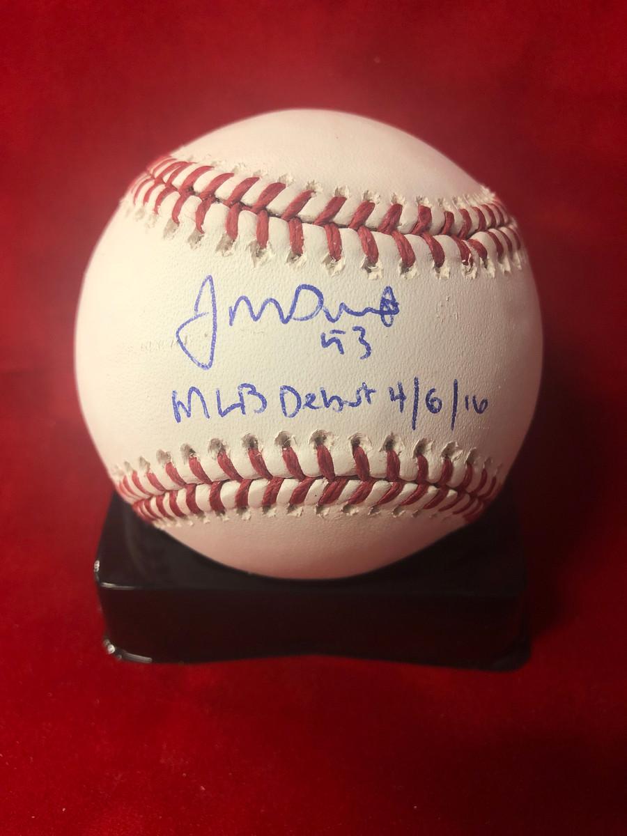 John Gant Signed OMLB w/ MLB Debut Inscription