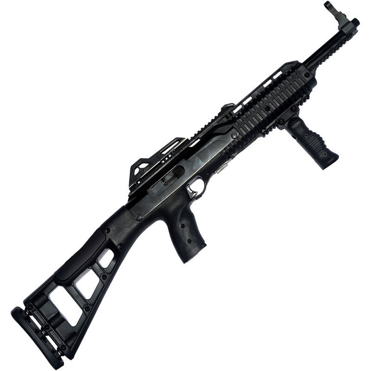 """Hi-Point 995TS 9mm Carbine 16.5"""" 10+1 w/ Forward Grip and 2 Red Ball 20Rd Magazines Black"""