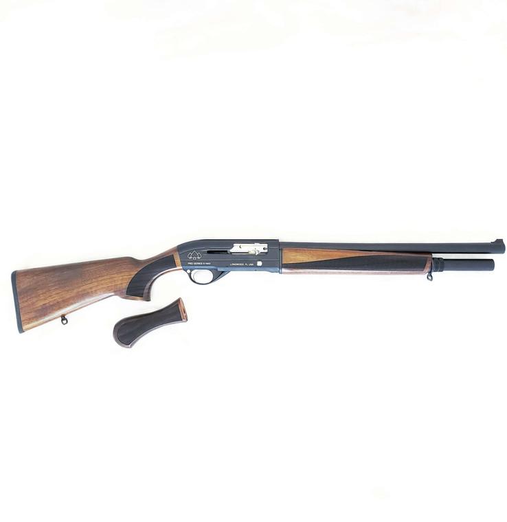 """Black Aces Tactical Pro Series SMAX Semi Auto 12 Gauge Shotgun 18-1/2"""" Barrel Natural Walnut Finish"""