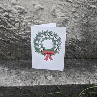 Skull Wreath Card
