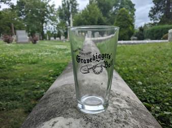 Gravediggers' Ball Pint Glass