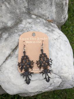 Filigree Earrings-Black