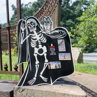 Skeleton Chalkboard Sign