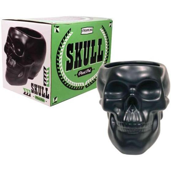 Black Skull Planter