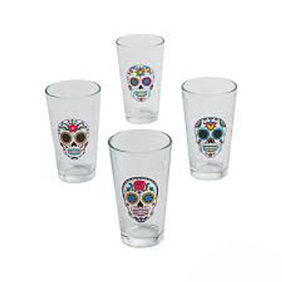 Day of the Dead Glass Tumbler