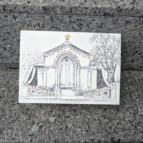 Holiday Mausoleum with Lights