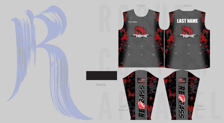 RB Bass Fishing Team Jersey - Grey