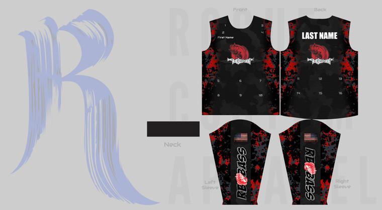 RB Bass Fishing Team Jersey - Black
