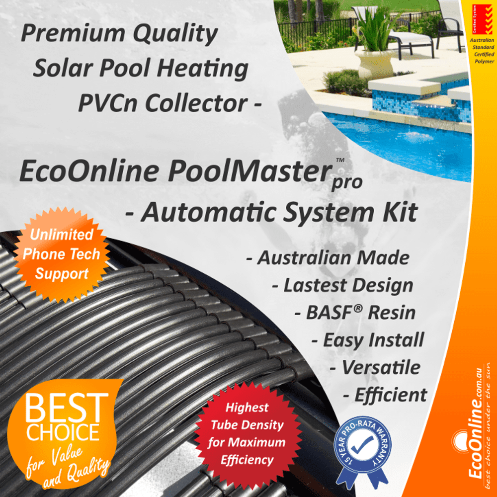 PoolMasterpro PVC Strip Solar Pool Heating System - Automatic Kit