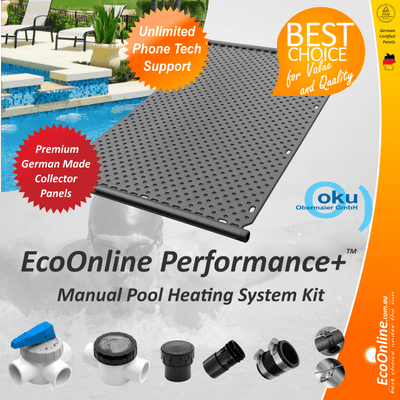 EcoOnline Performance+ OKU Solar Pool Heater Panel - Manual System