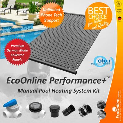 EcoOnline Performance+ OKU Solar Pool Heater Panel - Manual System