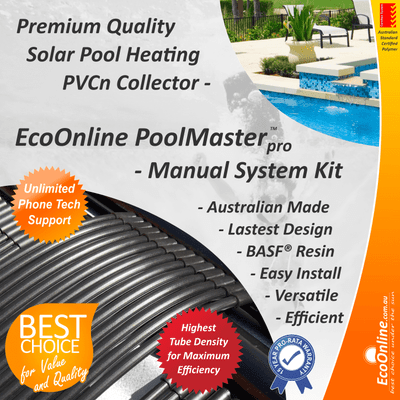 PoolMasterpro PVC Strip Solar Pool Heating System - Manual Kit
