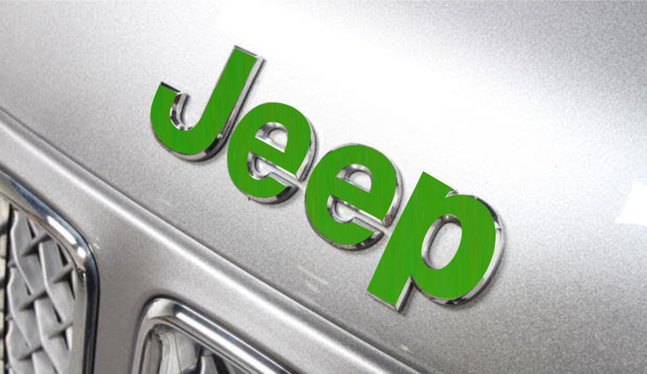 Reflective Concepts Color: Dark Charcoal Metallic 2007-2013 Jeep Compass - JEEP Front and Rear Emblem Overlay Decal Stickers