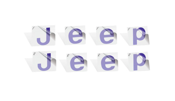 JEEP Front and Rear Emblem Overlay Decals sticker for 2017-2019 Compass MP