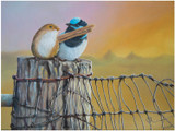 Limited edition prints of 'Just Friends' - a painting of fairy wrens
