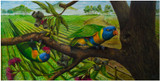 """Lorikeets"" - an original painting by Swapnil Nevgi"