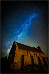"""Starry Skies"" - fine art photo print of millkyway at Lake Tekapo by Swapnil Nevgi"