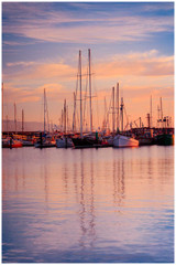 """Apollo Bay"" - fine art photo print on sunrise and boats at Apollo Bay by Swapnil Nevgi"