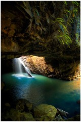 """Natural Bridge"" - fine art photo print of Natural Bridge waterfall in Queensland by Swapnil Nevgi"