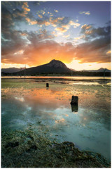 """Colours of Lake Moogerah"" - fine art photo print of Lake Moogerah sunset by Swapnil Nevgi"