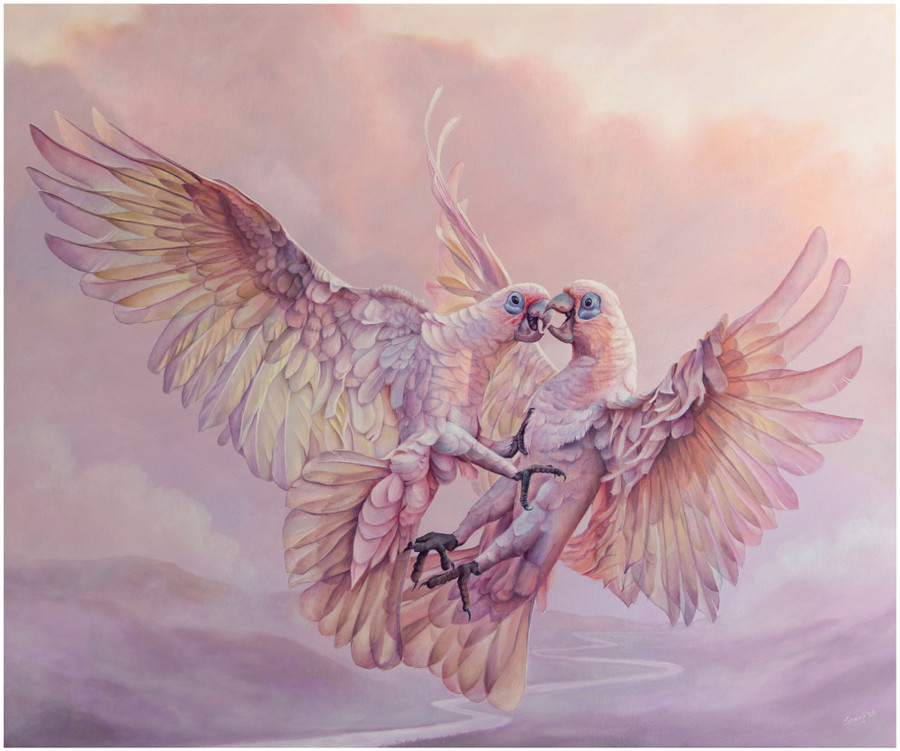 Limited edition prints of 'Fights in Flights' - an original painting by Swapnil Nevgi
