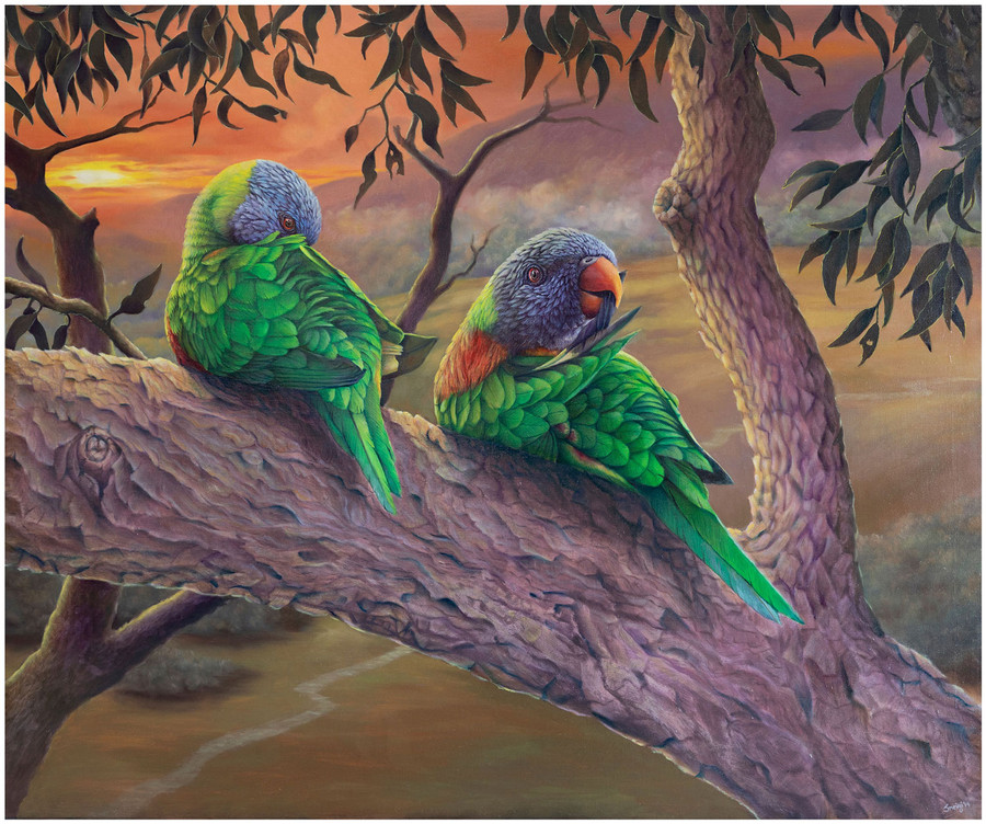Limited edition prints  of 'Morning Chores' - an original painting by Australian artist Swapnil Nevgi