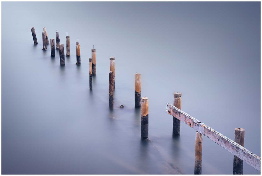 """Lost at the bay"" - fine art photo print of an old jetty in Brisbane by Swapnil Nevgi"