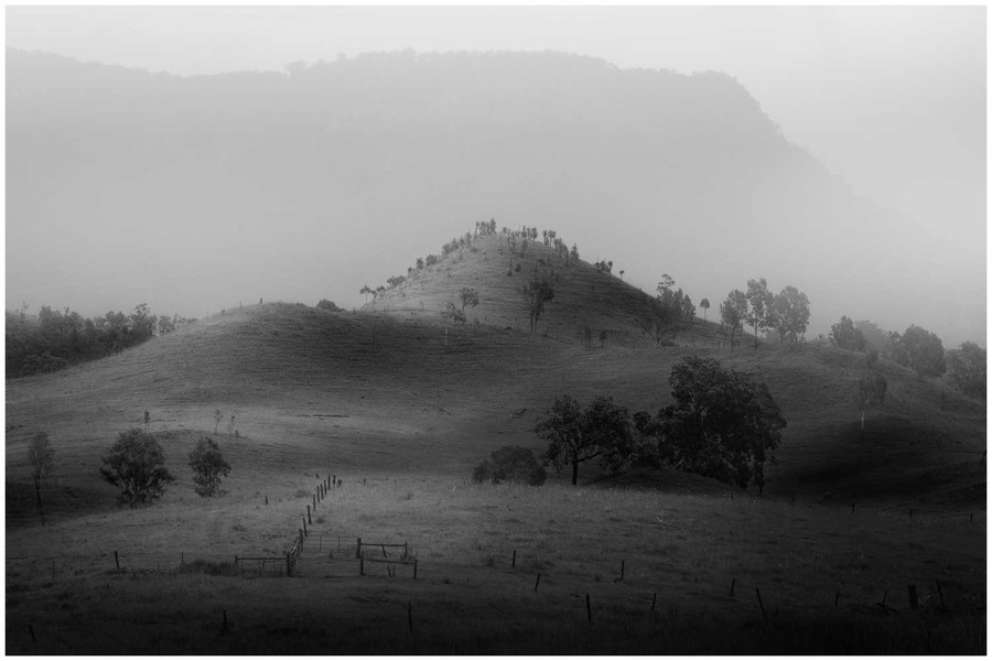 """""""Rolling Hills"""" - black and white fine art photo print of rolling hills by Swapnil Nevgi"""