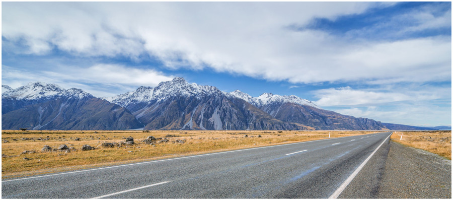 """Pure New Zealand"" -  fine art photo print of the beautiful mountain ranges of New Zealand by Swapnil Nevgi"