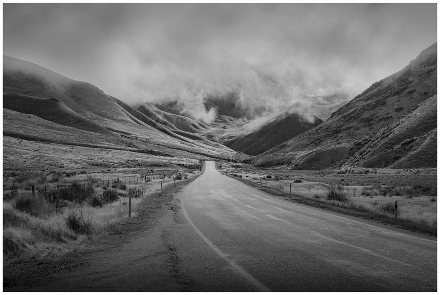 """Road to heaven"" -  fine art photo print of Lindis Pass, New Zealand by Swapnil Nevgi"