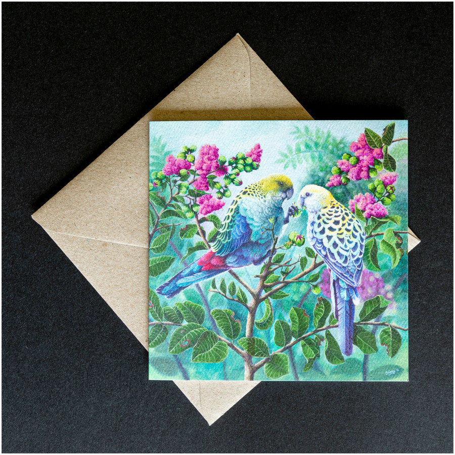 'Two Souls' greeting card shown with the envelope supplied