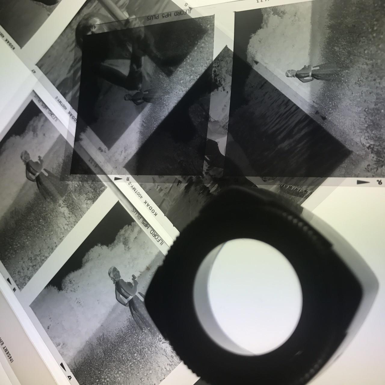 Developing film in the darkroom