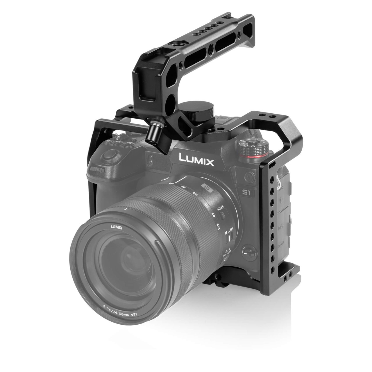 Gadget Place Bracket with Two Shoes for Microphone /& Video Light for Panasonic Lumix DC-S1 DC-S1R DC-S1H
