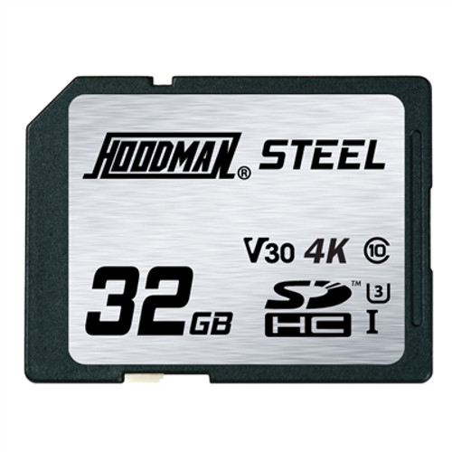Hoodman RAW STEEL Class 10 UHS-1 SDXC Memory Card - 32GB