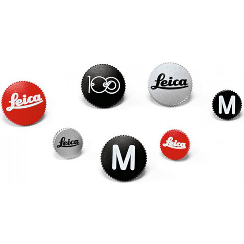 Leica Soft Release Button - 8mm Red