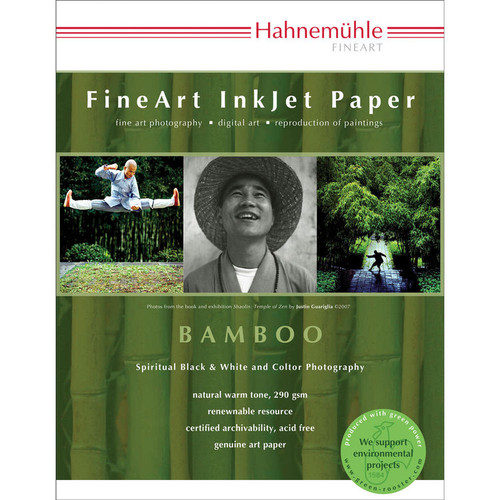 "Hahnemuhle  Bamboo Fine Art Paper- 8.5 x 11"", 25 Sheets"