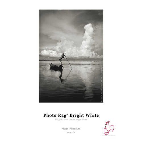 """Hahnemühle Photo Rag Bright White Paper- 8.5 x 11"""", 25 Sheets"""