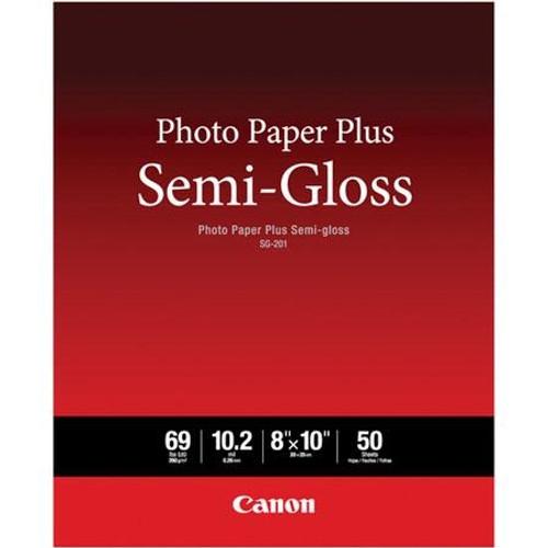 """Canon SG-201 Photo Paper Plus Semi-Gloss- 8 x 10"""", 50 Sheets"""