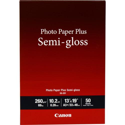 """Canon SG-201 Photo Paper Plus Semi-Gloss- 13 x 19"""", 50 Sheets"""