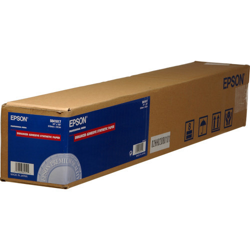 """Epson Enhanced Adhesive Synthetic Inkjet Paper- 24"""" x 100' Roll *Special Order Item*"""