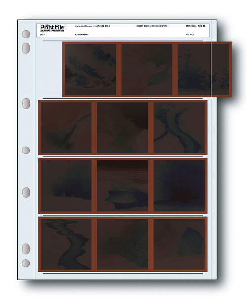Print File Archival 120 Negative Preservers- 120-4B, 25-Sheets