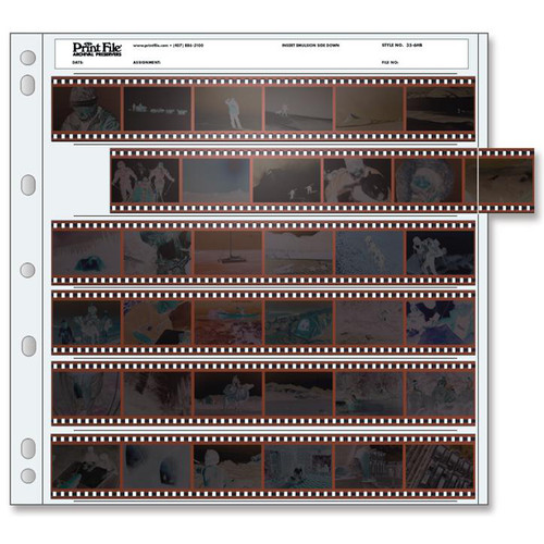 Print File Archival 35mm Negative Preservers- 35-6HB, 25 Sheets
