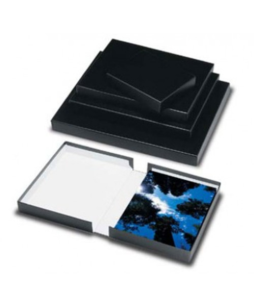 Print File Black Clamshell Archival Portfolio Box- 8.5 x 10.5 x 2""