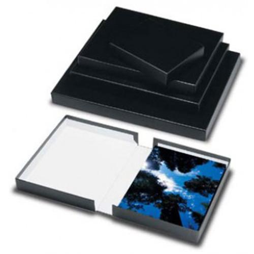 "Print File Black Clamshell Archival Portfolio Box- 16.25 x 20.25 x 2"""