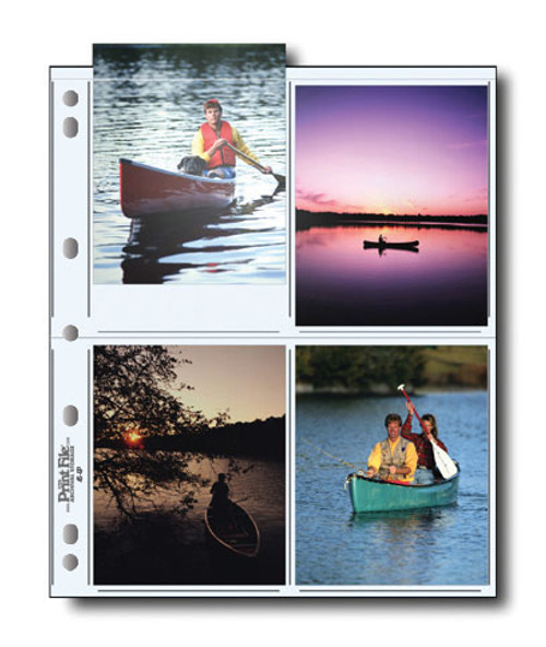 """Print File 45-8P Archival Storage Page- 4 x 5"""", 25-Pack"""