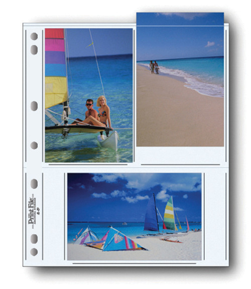 """Print File 46-6P Archival Storage Page for 6 Prints- 4 x 6"""", 25-Pack"""